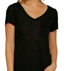 Bozzolo Black V-Neck Chest Pocket T-shirt NWOT